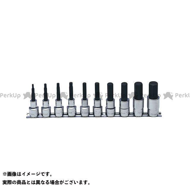 Ko-ken ハンドツール RS4010M/10-L75 1/2(12.7mm)SQ. ヘックスビットソケットレールセット 全長75mm 10ヶ組 Ko-ken
