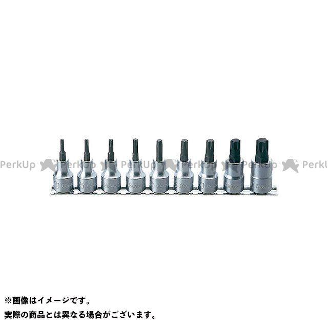 【無料雑誌付き】Ko-ken ハンドツール RS4025/9-L60 1/2(12.7mm)SQ. トルクスビットソケットレールセット 全長60mm 9ヶ組 Ko-ken