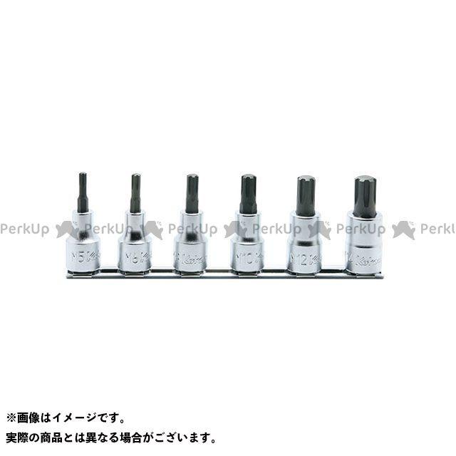 【無料雑誌付き】Ko-ken ハンドツール RS4027/6-L60 1/2(12.7mm)SQ. CVビットソケットレールセット 全長60mm 6ヶ組 Ko-ken