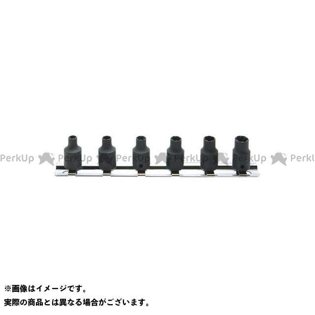 Ko-ken ハンドツール RS2127/6 1/4(6.35mm)SQ. ナットツイスターレールセット 6ヶ組 Ko-ken