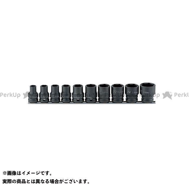 Ko-ken ハンドツール RS14401M/10 1/2(12.7mm)SQ. インパクト6角ソケット(薄肉)レールセット 10ヶ組 Ko-ken