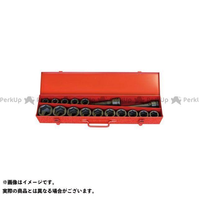 Ko-ken ハンドツール 16245M 3/4(19mm)SQ. インパクト6角ソケットセット 17ヶ組  Ko-ken