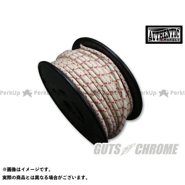 GUTS CHROME その他電装パーツ クロスカバーワイヤー16ゲージ 白X赤 1ロール  ガッツクローム