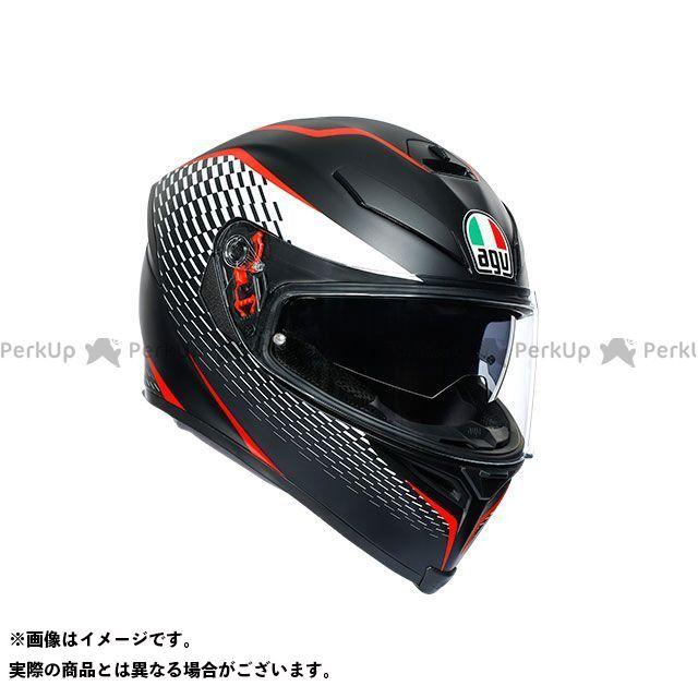 エージーブイ フルフェイスヘルメット K-5 S 003-THUNDER MATT BLACK/WHITE/RED S AGV