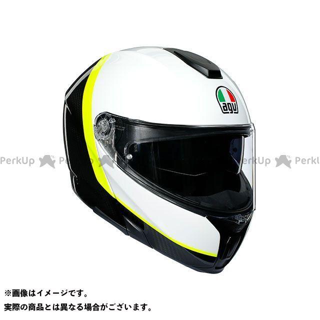 エージーブイ フルフェイスヘルメット SPORTMODULAR 008-RAY CARBON/WHITE/YELLOW FLUO サイズ:XL AGV