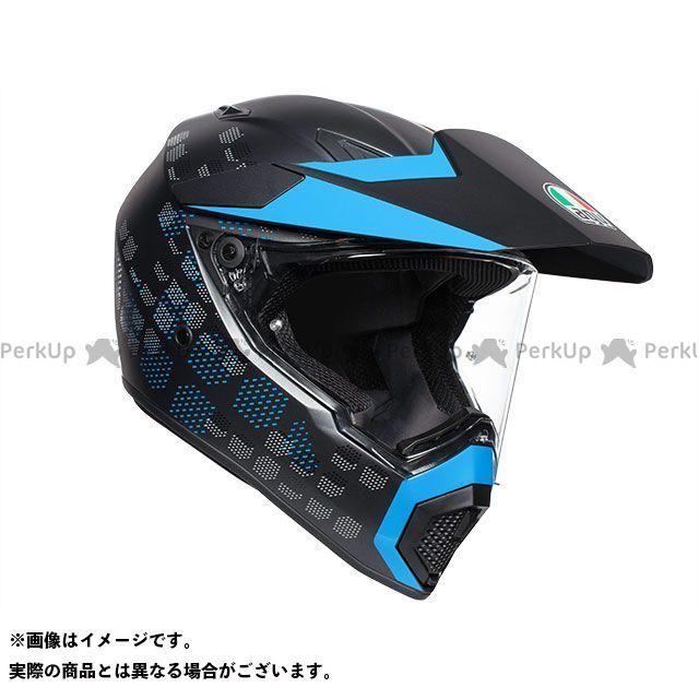 エージーブイ フルフェイスヘルメット AX9 004-ANTARTICA MATT BLACK/CYAN サイズ:L AGV