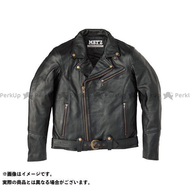 MET'Z ジャケット MLJ-1802 ダブルライダース(ブラック) サイズ:L/W MET'Z