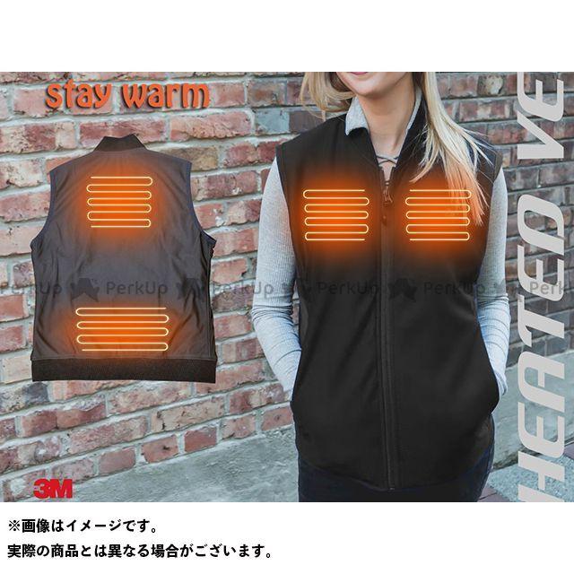 stay warm 電熱ウェア・防寒用品 速暖 ヒーター内蔵ベスト(電熱ベスト)/(ブラック) サイズ:L stay warm