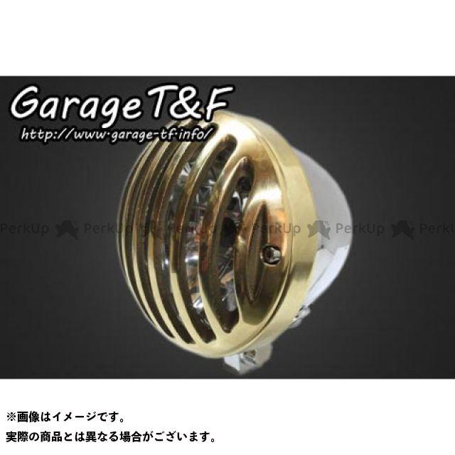 ガレージティーアンドエフ 汎用 ヘッドライト・バルブ 4.5インチバードゲージヘッドライト メッキ 真鍮