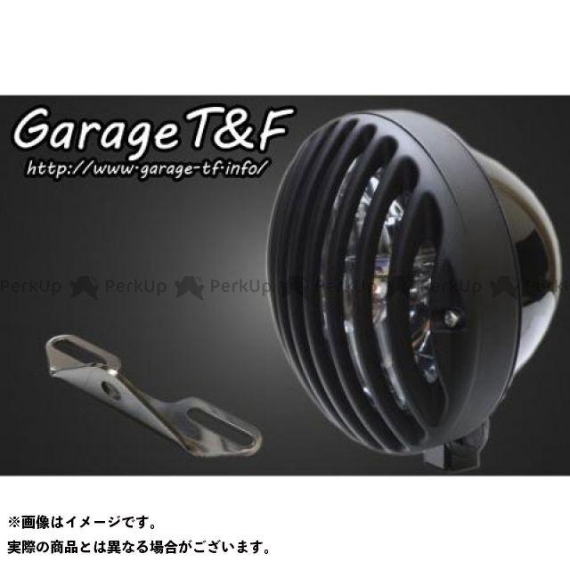 ガレージティーアンドエフ イントルーダークラシック400 ヘッドライト・バルブ 5.75インチバードゲージヘッドライト&ライトステー(タイプB)キット ブラック ブラック