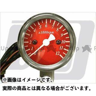 【エントリーで最大P23倍】GUTS CHROME タコメーター 48mm タコメーター 電気式 カラー:赤 ガッツクローム