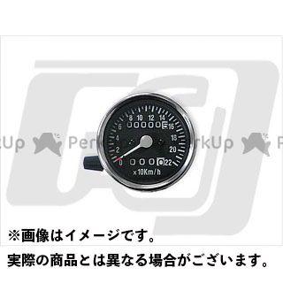 【エントリーで最大P23倍】GUTS CHROME スピードメーター 60mm機械式スピードメーター トリップ付 2:1 カラー:黒文字盤 ガッツクローム