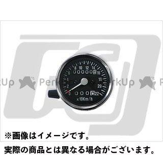【エントリーで最大P23倍】GUTS CHROME スピードメーター 60mm機械式スピードメーター トリップ付 1:1 カラー:黒文字盤 ガッツクローム
