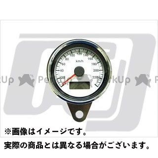 GUTS CHROME ハーレー汎用 スピードメーター 60mmスピードメーター白 1995年以降 電気式