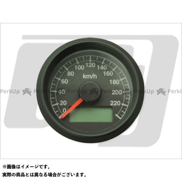 【エントリーで最大P23倍】GUTS CHROME ハーレー汎用 スピードメーター 機械式アジャスタブルスピードメーター ボディ:黒 文字:黒 ガッツクローム