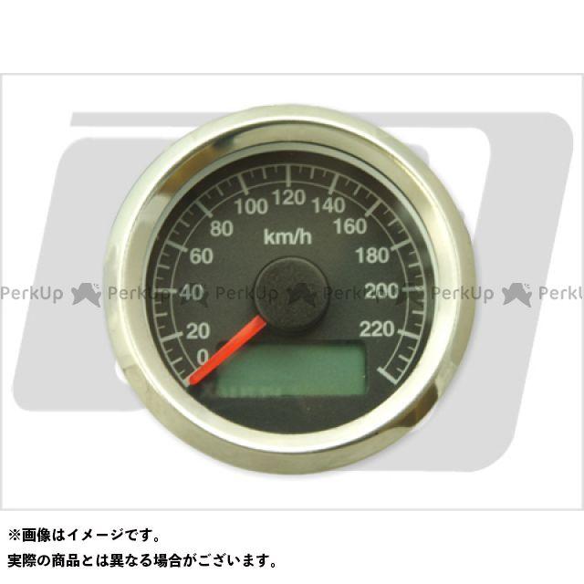 【エントリーで最大P23倍】GUTS CHROME ハーレー汎用 スピードメーター 電気式アジャスタブルスピードメーター ボディ:ステン 文字:黒 ガッツクローム