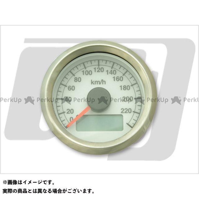 【エントリーで最大P23倍】GUTS CHROME ハーレー汎用 スピードメーター 電気式アジャスタブルスピードメーター ボディ:ステン 文字:白 ガッツクローム
