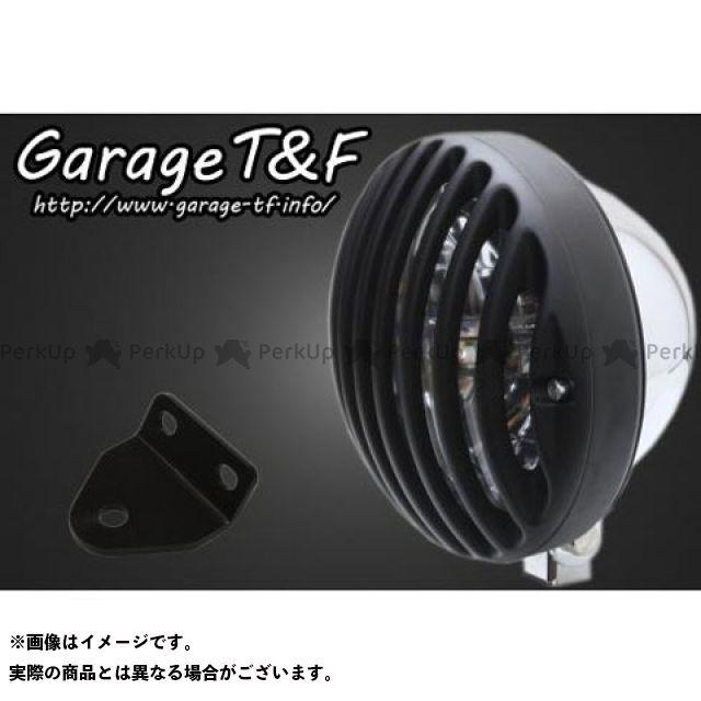 【エントリーで最大P21倍】ガレージティーアンドエフ SR400 ヘッドライト・バルブ 5.75インチバードゲージヘッドライト&ライトステー(タイプC)キット ヘッドライト:メッキ ゲージ:ブラック ガレージT&F