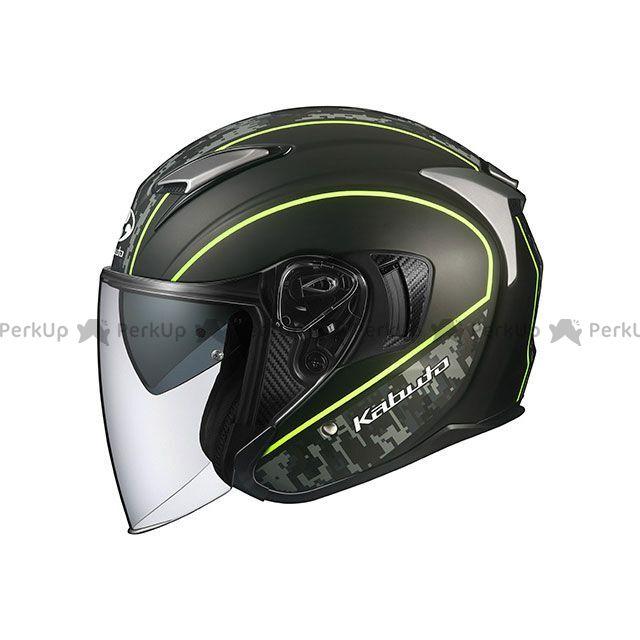 OGK KABUTO ジェットヘルメット EXCEED DELIE(エクシード・デリエ) フラットカモ/イエロー サイズ:M OGK KABUTO