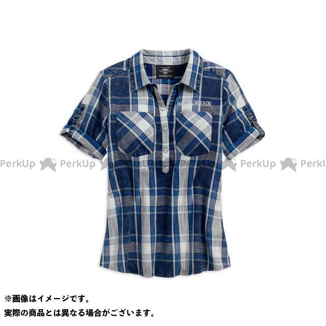 HARLEY-DAVIDSON カジュアルウェア レディースシャツS/S/PRNT EAG BLU サイズ:XS ハーレーダビッドソン