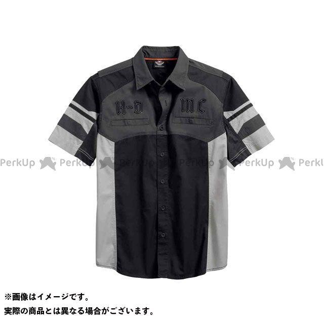 HARLEY-DAVIDSON カジュアルウェア シャツS/S Performance VentedTonal ColorblockShirt サイズ:L ハーレーダビッドソン
