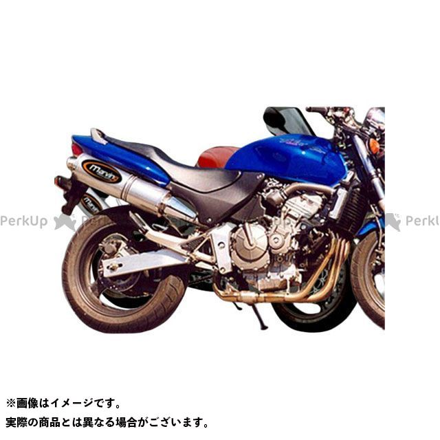 Marving ホーネット600 マフラー本体 マービング マフラー ビッグオーバル = 102x130 Superline アルミニウム - EU公道走行認可 for Honda HORNET 600 (00-02) マービング