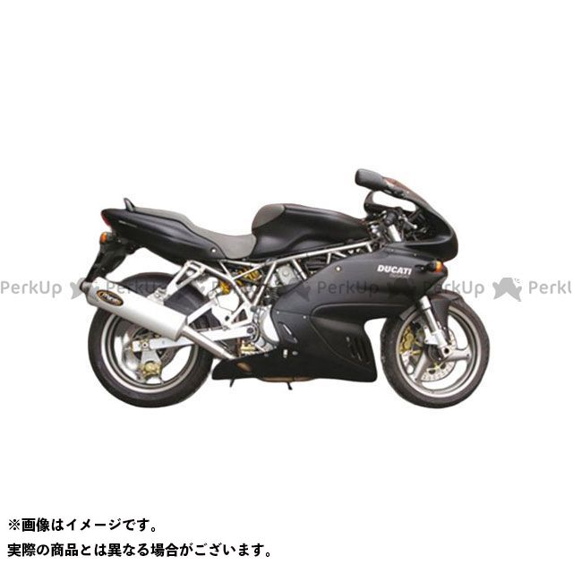 Marving スーパースポーツ1000 マフラー本体 マービング ロー デュアルマフラー スモールオーバル = 94x124 Superline アルミニウム - EU公道走行認可 for Ducati 620/750/800/900 マービング