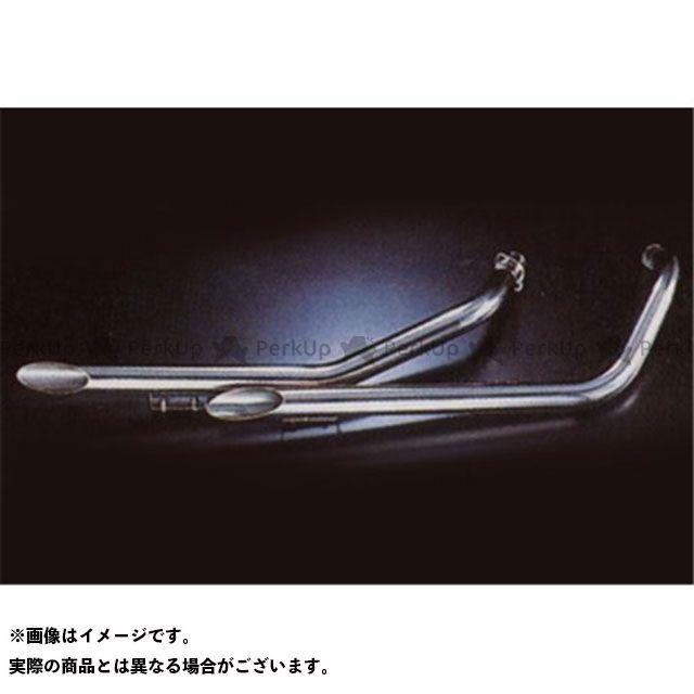 【無料雑誌付き】Marving シャドウ600 マフラー本体 マービング フルシステム Drag Pipes low short ステンレススチール 50 for Honda VT 600 SHADOW マービング