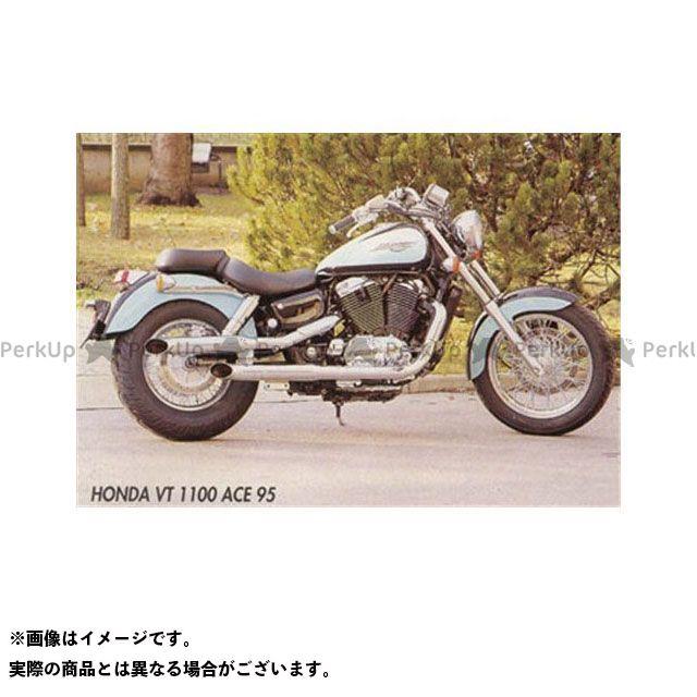 Marving シャドウエアロ マフラー本体 マービング デュアルマフラー Legend クロム for Honda VT 1100 SHADOW ACE マービング