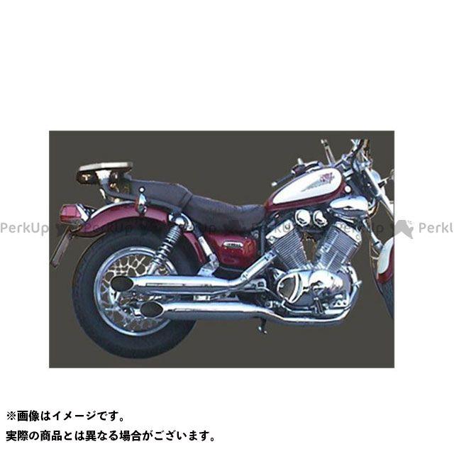 Marving その他のモデル マフラー本体 マービング フルシステム Custom Silenced クロム for Yamaha XV 535 VIRAGO マービング