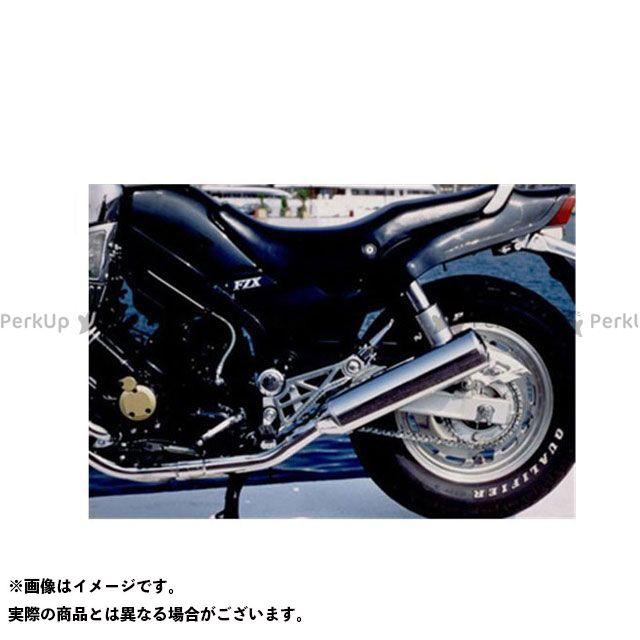 Marving FZX750 マフラー本体 マービング デュアルマフラー Cylindrical 110 クロム - EU公道走行認可 for Yamaha FZX 750 PHASER (87-) マービング