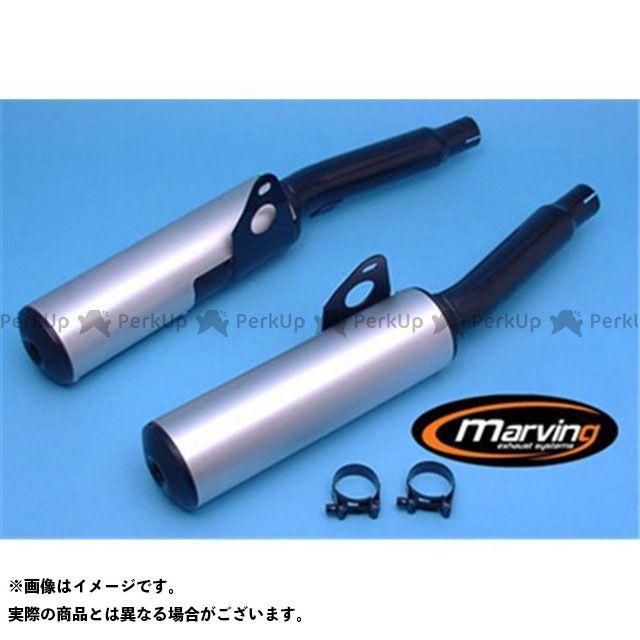 Marving ニンジャ1000RX マフラー本体 マービング デュアルマフラー Cylindrical 100 ブラック + アルミニウム - EU公道走行認可 for Kawasaki GPZ 1000 RX マービング