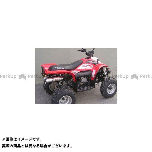 Marving ATV・バギー マフラー本体 マービングマフラー Single Round Φ 100 Quad Atv Line アルミ (クワッド・4輪バイク)TRAIL BLAZER 330 2008 > POLARIS Q マービング