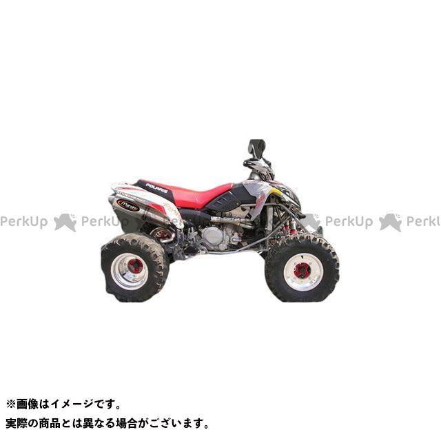 【エントリーで最大P23倍】Marving ATV・バギー マフラー本体 マービングマフラー Single Big Oval Quad Atv Line アルミ (クワッド・4輪バイク)PREDATOR 500 2004 > POLARIS Quad …