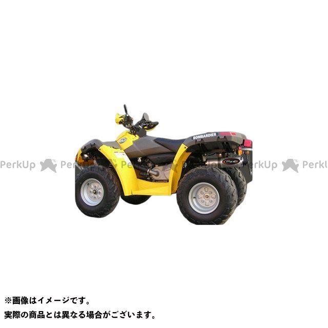 【エントリーで最大P21倍】Marving ATV・バギー マフラー本体 マービングマフラー Single Round Φ 100 Quad Atv Line アルミ (クワッド・4輪バイク)RALLY 2005> CAN AM Quad - EU/S…