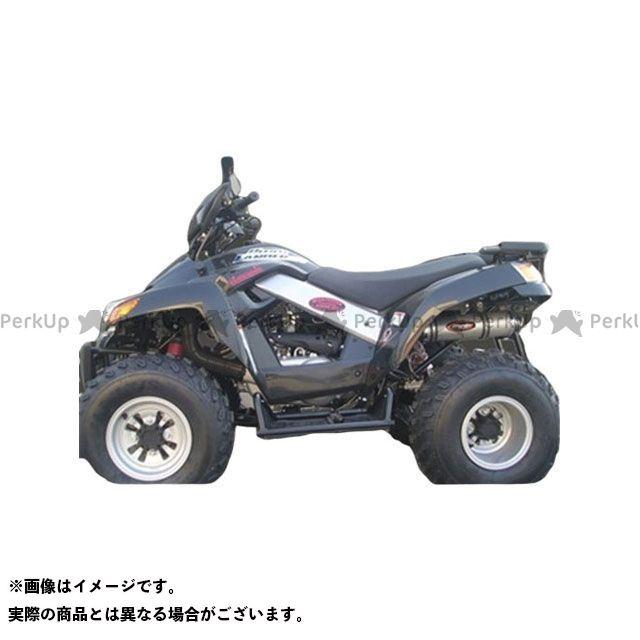 Marving ATV・バギー マフラー本体 マービングマフラー Single Round Φ 100 Quad Atv Line アルミ (クワッド・4輪バイク)QUAD LANDER 250 2006 > SYM Quad - マービング