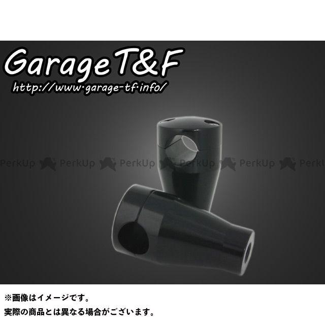 ガレージティーアンドエフ SR400 ハンドルポスト関連パーツ ハンドルポスト3インチ カラー:ブラック ガレージT&F
