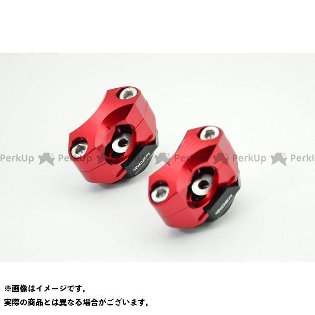 【無料雑誌付き】【特価品】RIDEA 汎用 ハンドルポスト関連パーツ ハンドルバーライザー 5ポジション(レッド) リデア