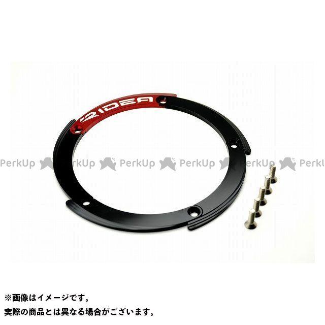RIDEA TMAX530 ドレスアップ・カバー リヤホイールプーリーカバー(ブラック/レッド)  リデア