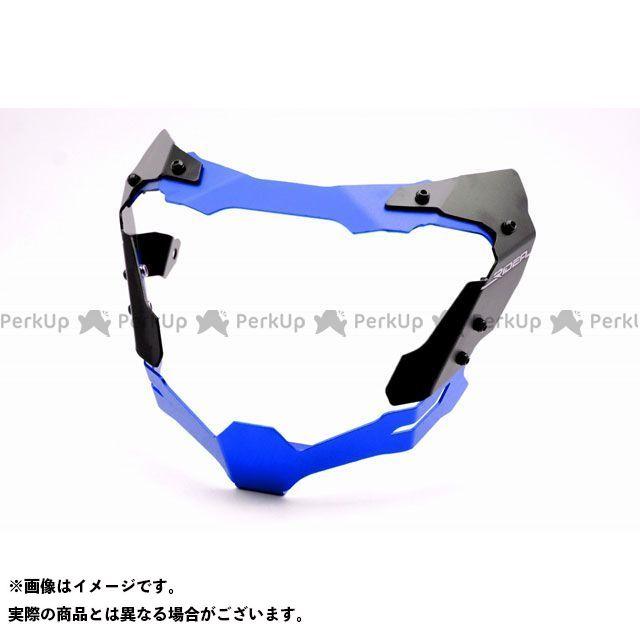 【無料雑誌付き】【特価品】RIDEA MT-07 ヘッドライト・バルブ アルミヘッドライトカバー(ブルー) リデア