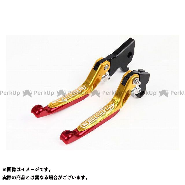 【特価品】RIDEA シグナスX GTR125 レバー 3Dスライド延長式ノブアジャストブレーキレバー 左右セット(ゴールド) エクステンション:レッド リデア