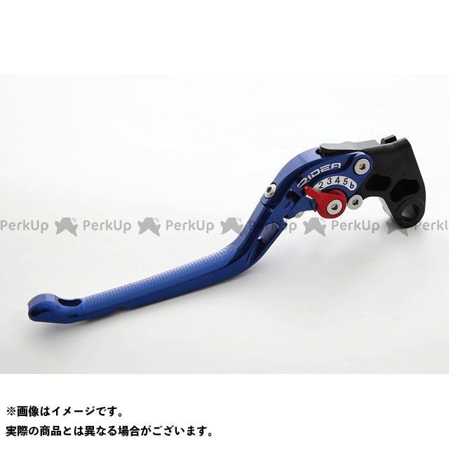【エントリーで更にP5倍】RIDEA 390デューク レバー 可倒式アジャストクラッチレバー(ブルー) アジャスト:レッド リデア