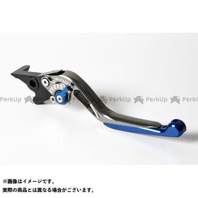 【無料雑誌付き】【特価品】RIDEA YZF-R15 レバー スライド延長式アジャストブレーキレバー(チタン) アジャスト:ブルー エクステンション:シルバー リデア