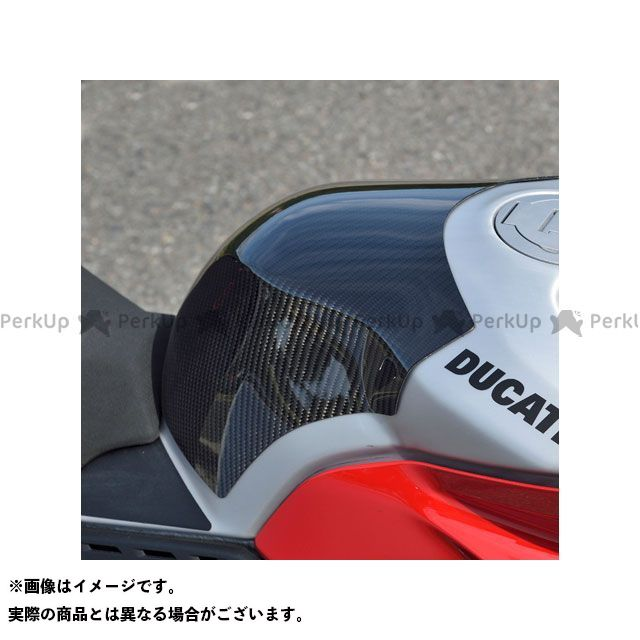 【特価品】Magical Racing パニガーレV4R タンク関連パーツ タンクエンド 材質:平織カーボン製 マジカルレーシング