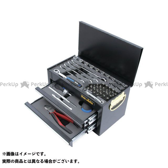 【無料雑誌付き】Pro-Auto ハンドツール 1/4DR.51PCミニチェストツールセット ブラック Pro-Auto