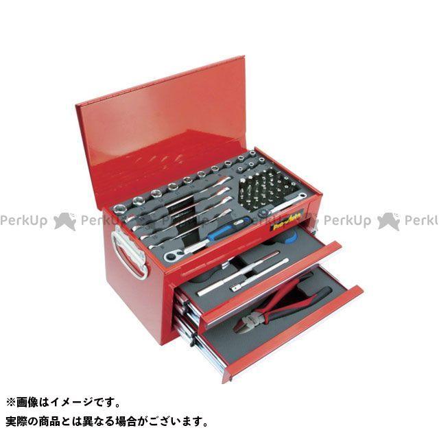 Pro-Auto ハンドツール 1/4DR.51PCミニチェストツールセット レッド Pro-Auto