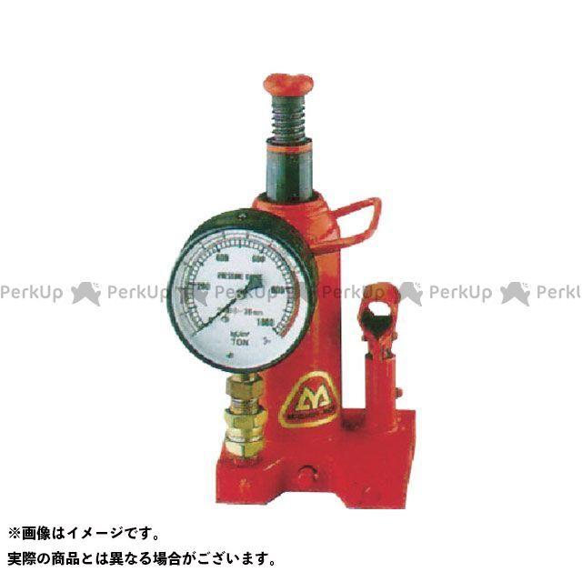 【エントリーで最大P21倍】MASADA SEISAKUSHO 作業場工具 ゲージ付油圧ジャッキ 10TON マサダ製作所