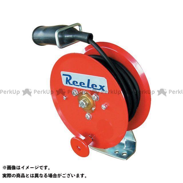 Reelex 電動工具 手動巻アースリール 2.0SQ×10m 50Aアースクリップ付 Reelex