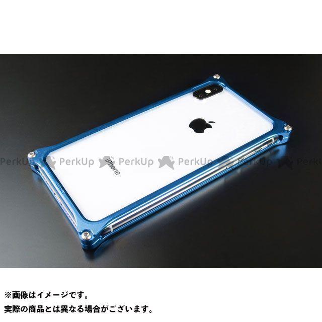 GILD design 小物・ケース類 GI-423BL ソリッドバンパー for iPhone XS Max(ブルー) GILD design(mobile item)