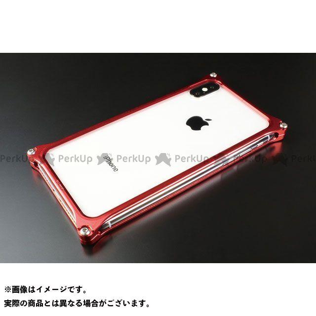 GILD design 小物・ケース類 GI-422R ソリッドバンパー for iPhone Xs/X(レッド) GILD design(mobile item)